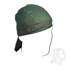 OLIVE DRAB OD ARMY GREEN Flydanna Deluxe Doo Rag Headwrap Skull Cap Biker ATV
