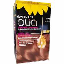 GARNIER Olia Haarfarbe 7.31 Kühles Goldblond ohne Ammoniak Coloration Gold Blond