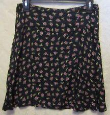 Women's Juniors At Last & Co. Floral Print Wrap Mini Skirt Size L NWOT