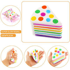 Fun Squishy Rainbow Cake Scented Slow Rising Restore Squeeze Toy Wholesale TR