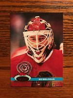 1991 Topps Stadium Club #333 Ed Belfour Hockey Card Chicago Blackhawks Raw