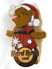 Hard Rock Cafe Belo Horizonte Christmas Bear '08 Pin - LE 100 Pins Issued