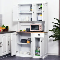 Microwave Oven Stand Pantry Kitchen Storage Cabinet Freestanding Storage Unit