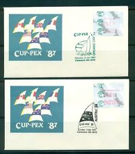 Australia 1987 CUP-PEX covers (9) with special Frama Label