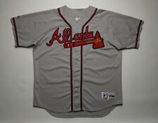 Atlanta Braves MLB baseball Jersey ATL tomahawk shirt Gray Majestic Vintage Kit