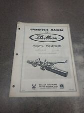 Brillion Folding Pulverizer Operators Manual 2j628