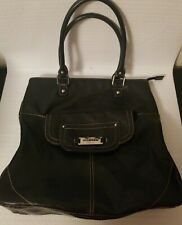 Nine West Tote Shopper Carry All Bag Black Man Made Faux Leather Purse