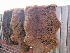 BEAUTIFUL BROWN NATURAL 100% SHEEPSKIN 100-110