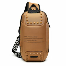 Multi-functional chest bag,brown