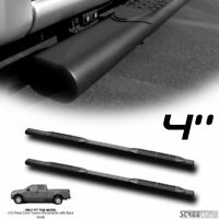 "For 04-08 Ford F150 Super Cab 4"" Matte Black Oval Side Step Bars Running Boards"