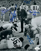 1968 PACKERS Ken Bowman Fleming Skoronski SB II signed 8x10 photo JSA 5 AUTOS