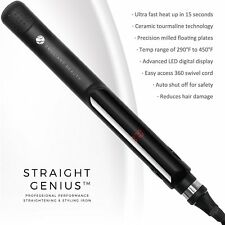 STRAIGHT GENIUS Ceramic Ionic Tourmaline Flat Iron - Professional Straightener