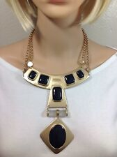 Chico's gold & Black Stunning Necklace NWT