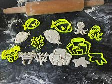 Gli animali del mare insieme Cookie Cutter Fondente Cupcake Decorazione per Torta Regalo BADGE