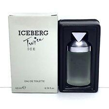 ICEBERG TWICE ICE Eau De Toilette Mini Splash FOR WOMEN 0.15 Oz/4.5ml NEW IN BOX
