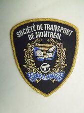 Vintage Societe De Transport De Montreal Iron On Patch - Bus Rail Gold Thread