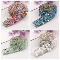 Bling Crystal Rhinestone Ribbon Wedding Dress Crafts Sewing Decor Trims 1 Yard