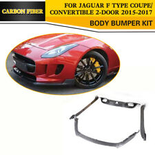 Front Rear Bumper Lip Diffuser Side Skirt Bodykit Carbon For JaguarF Type 15-17