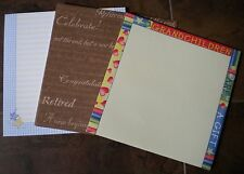 Lot of Misc Various Scrapbooking Paper Blocks Stacks by Memories