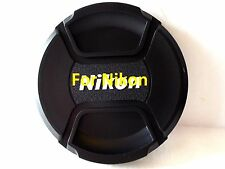 62mm Snap on Center Pinch Lens Cap Dust Cover Protector For Nikon New