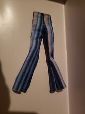 New Striped Denim Jeans With Flared Bottom For Barbie Dolls