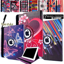 Leather 360 Degree Rotating Stand Case Cover For iPad mini 1 2 3 4 5