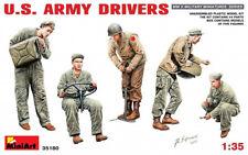 Miniart 1:35 U.S. Army Drivers WWII Era Figures Model Kit