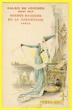 cpa Illustrateur JAPHET année 1900 NEW ART Palais du Costume MOYEN AGE Publicité