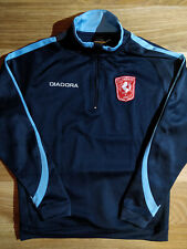 DIADORA FC TWENTE HOLLAND Mens Track Jacket Sweatshirt Soccer Football Navy Blue
