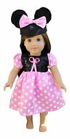AMERICAN GIRL DOLL CLOTHES MINNIE MOUSE DRESS FITS 18 INCH DOLLS DISNEY NEW