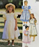 1997 Vntg McCalls Sewing Pattern 8634 Girls Dress & Pinafore Sz 2-4 Fashion 7717