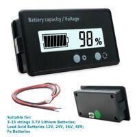 12V-48V LED Batterieanzeige Voltmeter Monitor Blei Lithium Batterie Kapazität