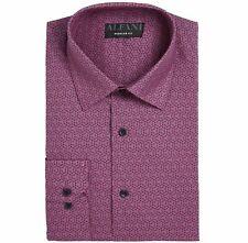 $99 Alfani 15-15.5 32/33 Men'S Regular-Fit Purple Black Long-Sleeve Dress Shirt