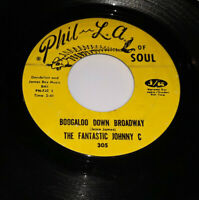 Soul 45 The Fantastic Johnny C - Boogaloo Down Broadway / Look What Love Can LQ