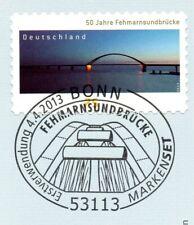 Rfa 2013: Fehmarnsundbrücke ! Auto-Adhésif No. 3003 Avec Bonner Timbre 1A 20-08