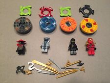 LEGO Ninjago Spinner minifig Lot of Ninjas Snakes  w/ Spinners Weapons Lot H457