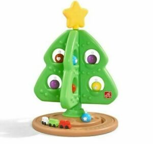 """Step2 My First Christmas Tree 31"""" w/ 12 Ornaments Train Plastic Durable Toddler"""