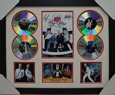 U2 SIGNED MEMORABILIA FRAMED 4 CD LIMITED EDITION CREAM