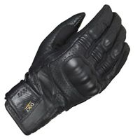 FURYGAN VITTORIO D30 Armour Black Leather Motorcycle/Cruiser/Retro Short Gloves