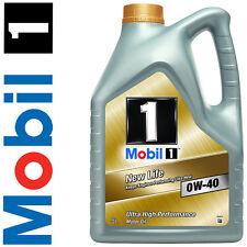 Olio Motore Auto sintetico - Mobil 1 NEW LIFE 0W40 - Latta da 5 litri