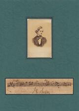 "Hector BERLIOZ (Composer): ""Romeo et Juliette"" AMQS with CDV Photo"