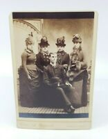 Antique Victorian photograph Ladies Hats & Dresses Wealthy Group Picture