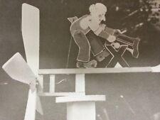 Animated garden toy whirlygig - copy carpentry plans WOOD CUTTER MAN lumberjack