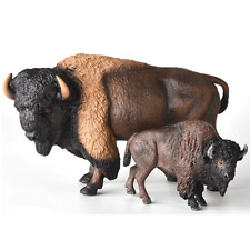 American Bison Figure Buffalo Animal Family Model Collector Decor Toy Kids Gifts