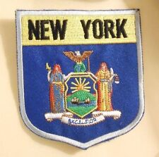 "New York Patch - Travel Souvenir - State Flag - 3 1/8"" x 3 5/8"""