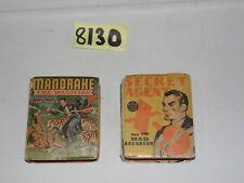 Big Little Book Lot of 2 Secret Agent and Mandrake the Magician