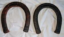 RARE PAIR (2) Very Old ANTIQUE Vintage Primitive PITCHING HORSESHOES 2.5 Lbs.