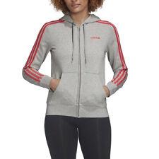 Adidas Felpa da Donna con Cappuccio Essentials 3-Stripes Grigia Codice FM6493...