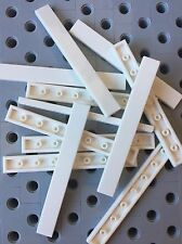 Lego 1x8 White Smooth Finishing Flat Tiles 1x8 Modular Buildings Floor New 12pcs
