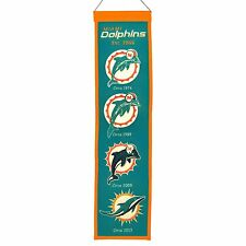 """Miami Dolphins NFL Embroidered Wool Heritage 32"""" Banner Pennant"""